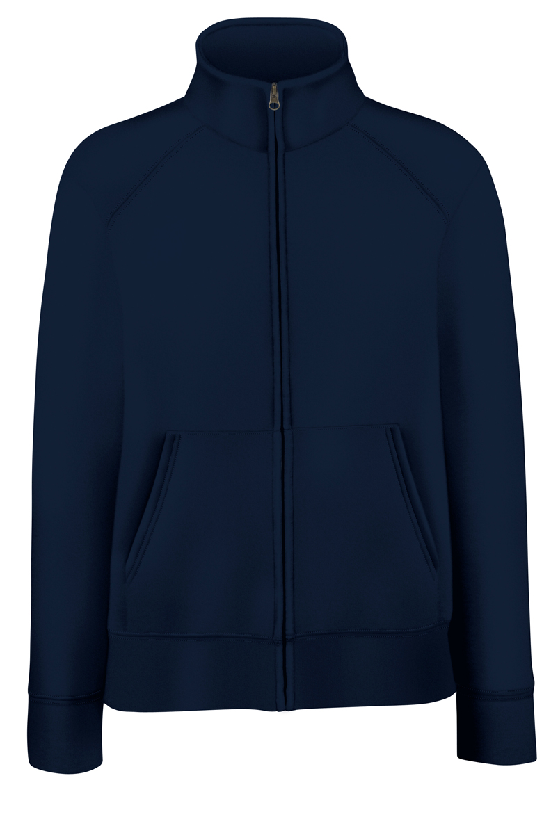 Fruit of the Loom Lady-Fit Sweat Jacket 621160 Deep Navy