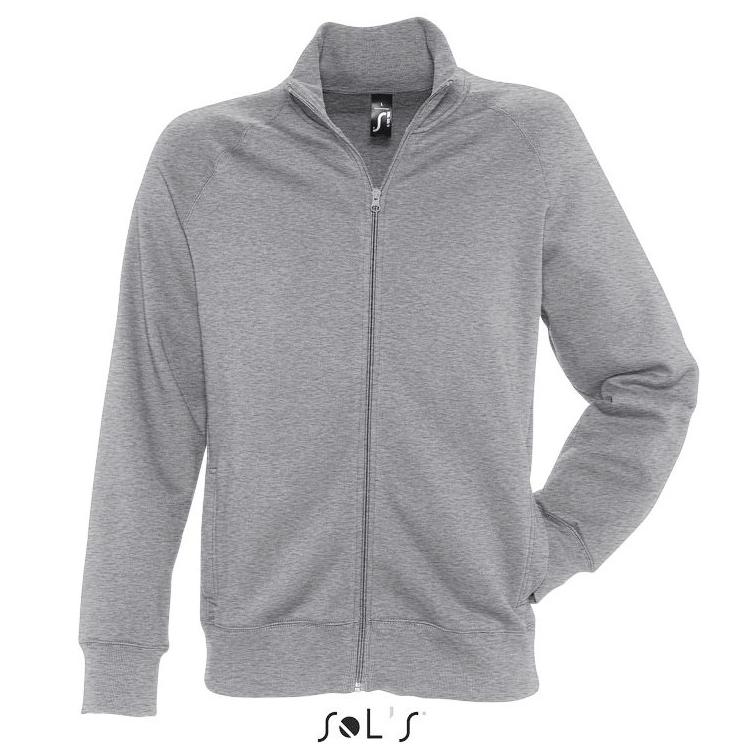 Sols Sundae Unisex Zip Sweater grey