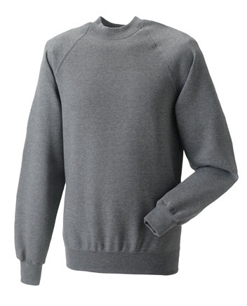 Russell Raglan Sleeve Sweater RU7620M Grey