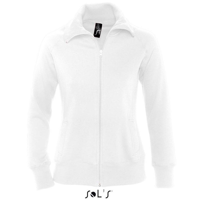 Sol's Soda Dames Zip Sweater white