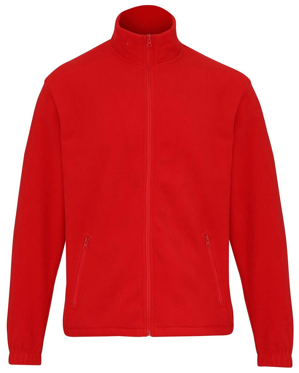 Full zip fleece vest met rits rood
