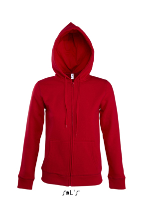 Sols Seven Women Zipped dames hoodie Red