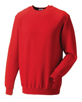 Russell Raglan Sleeve Sweater RU7620M Bright Red