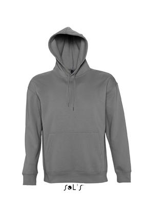 Sols Slam Unisex Hooded Sweater Dark Grey