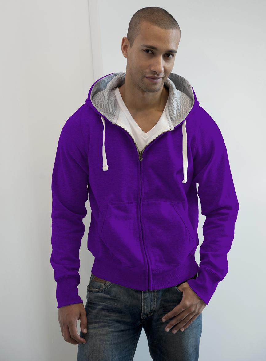 AWDis JH052 Chunky Zoodie Purple