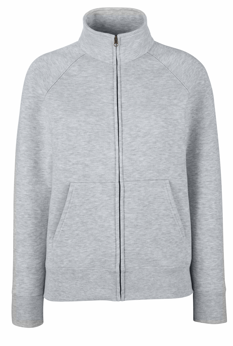 Fruit of the Loom Lady-Fit Sweat Jacket 621160 Heather Grey