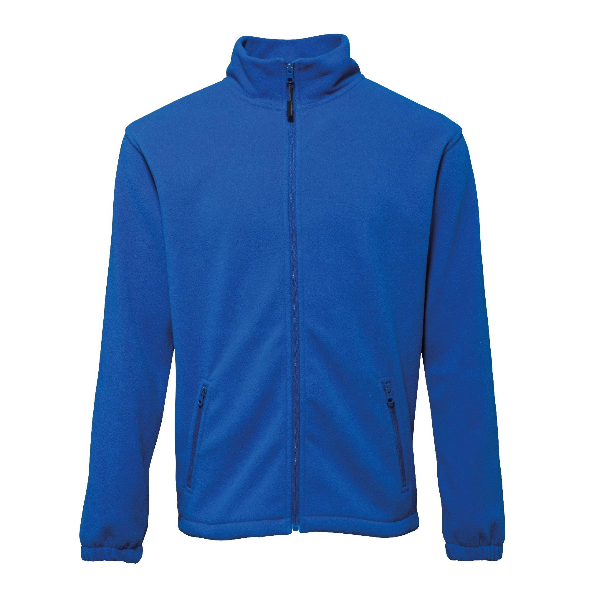Full zip fleece vest met rits royal blue
