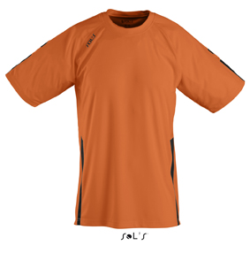Sols Wembley Sportshirt Orange - Black