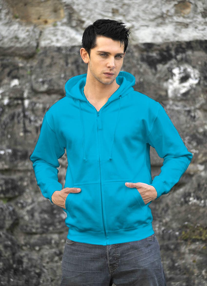 AWDis Zoodie JH050 hoodie Hawaiian Blue