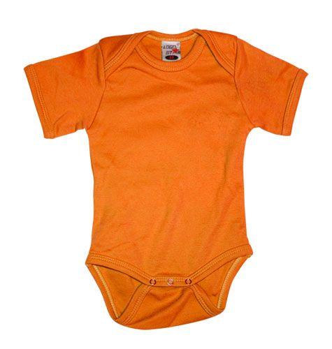 Shortsleeve Romper Orange