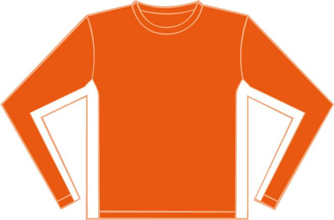 K344 Orange - White