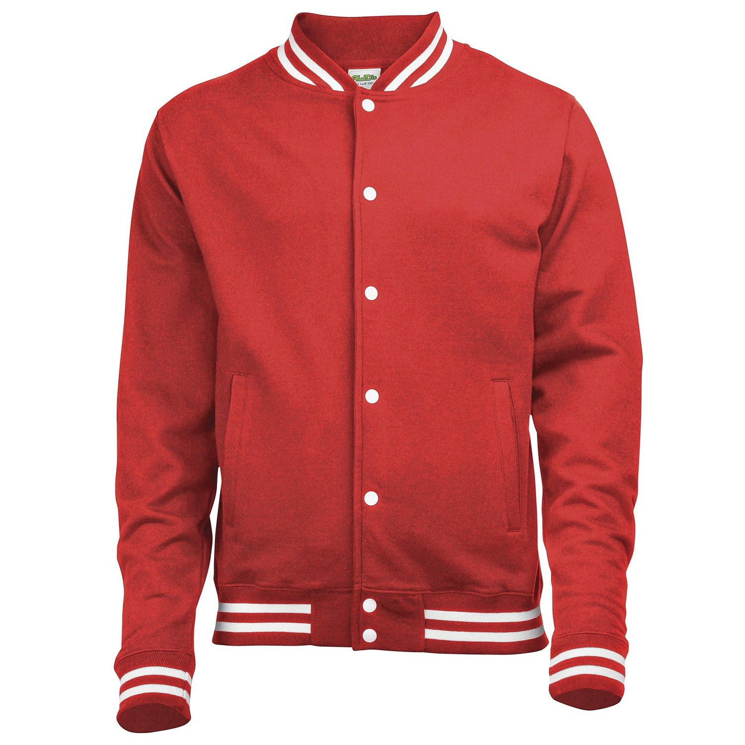 AWDis College Sweater Jacket fire red
