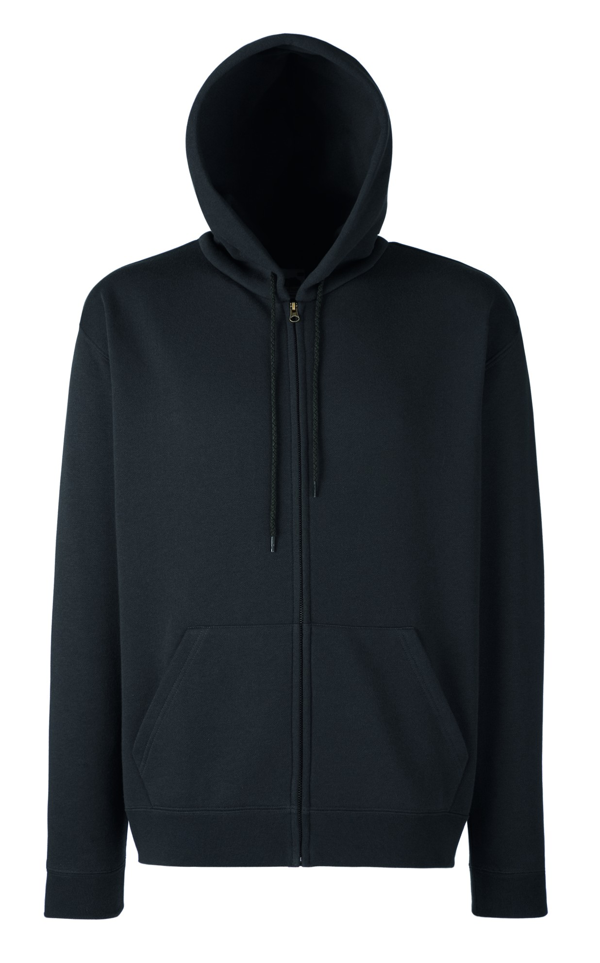 Fruit of the Loom Zip hoodie sweatshirt SC361C Charcoal