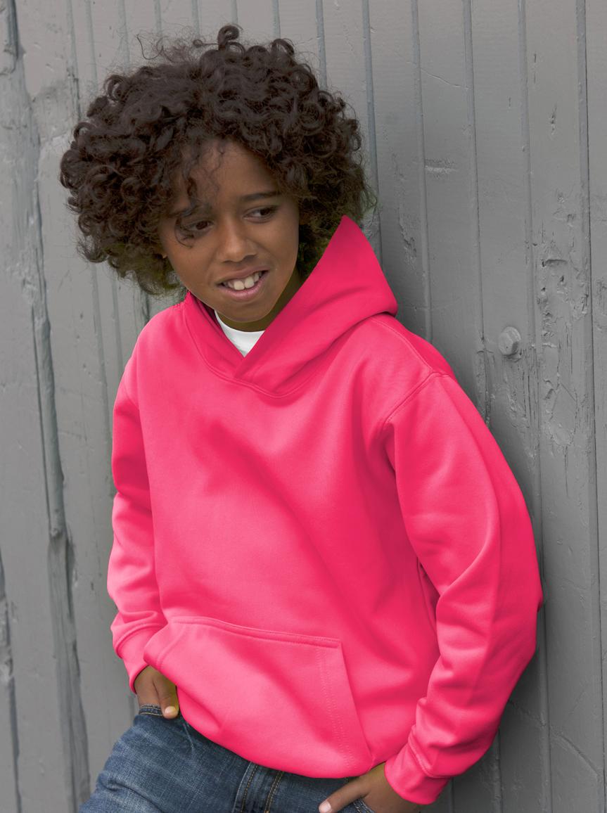 AWDis Kids Electric Hoodie JH04J Hoodie Kind Electric Pink