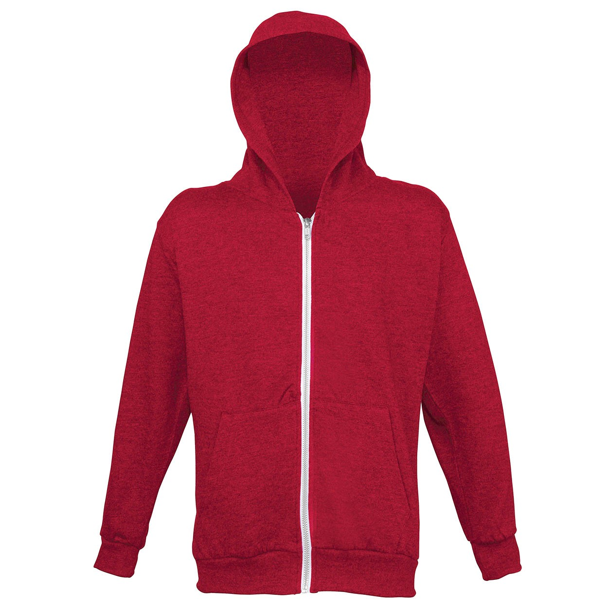AWDis Hoods Kids heather zoodie red