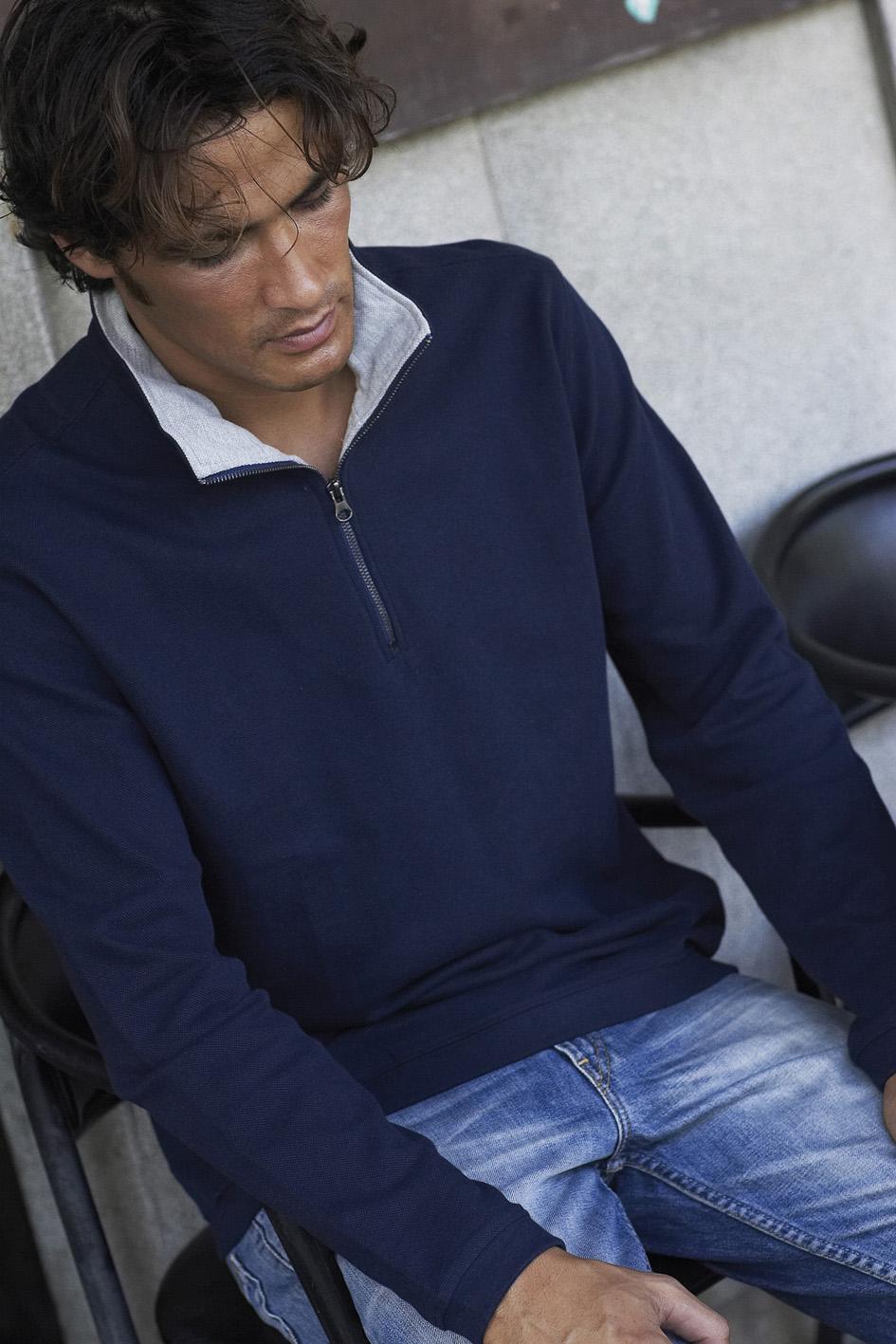 Kariban Trucker Zipneck sweater vest K206 foto 1
