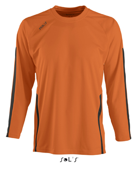 Sols Wembley LSL Orange - Black