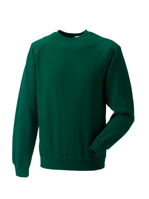 Russell Raglan Sleeve Sweater RU7620M Bottle Green