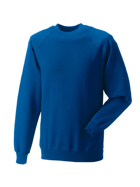 Russell Raglan Sleeve Sweater RU7620M Bright Royal Blue