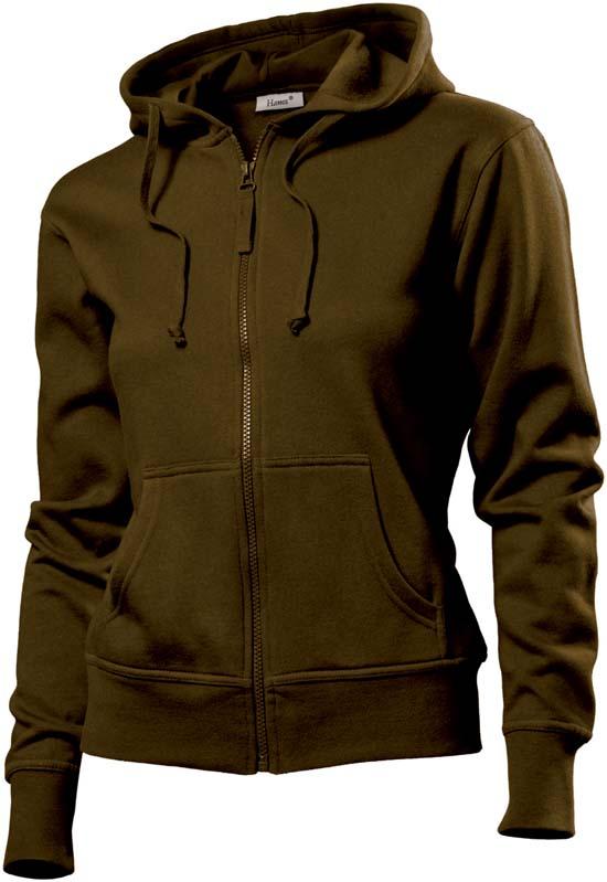 Hanes Spicy dames hoodie 6510 Brown