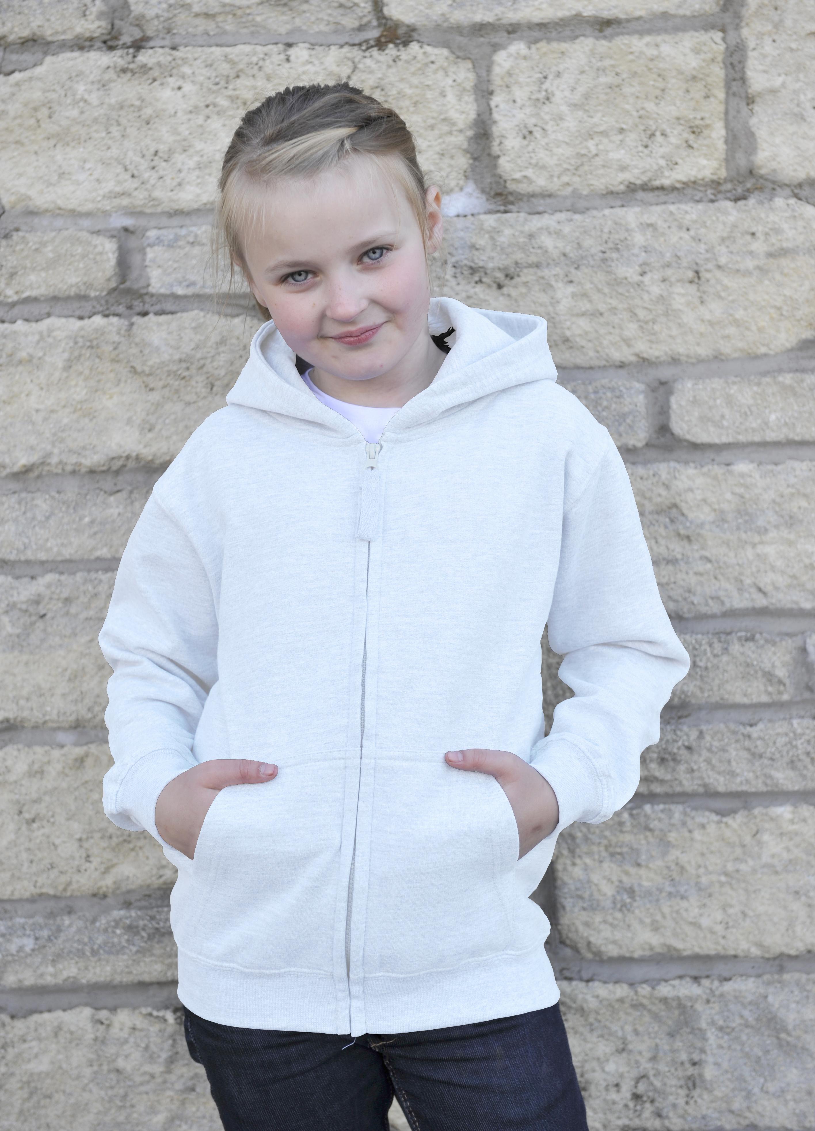 AWDis JH050J Kids Zoodie Arctic White