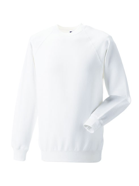 Russell Raglan Sleeve Sweater RU7620M White