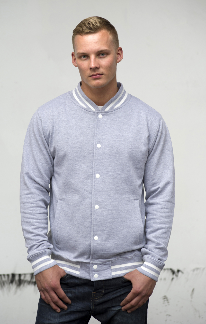 AWDis College Jacket JH041 Heather Grey