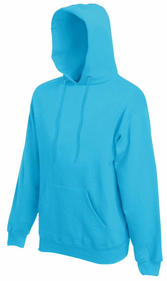Fruit of the Loom hoodie sweater Azure Blue
