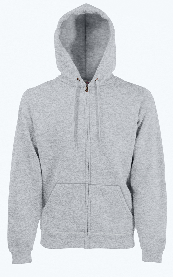 Fruit of the Loom Hooded Jacket 620620 Heather Grey