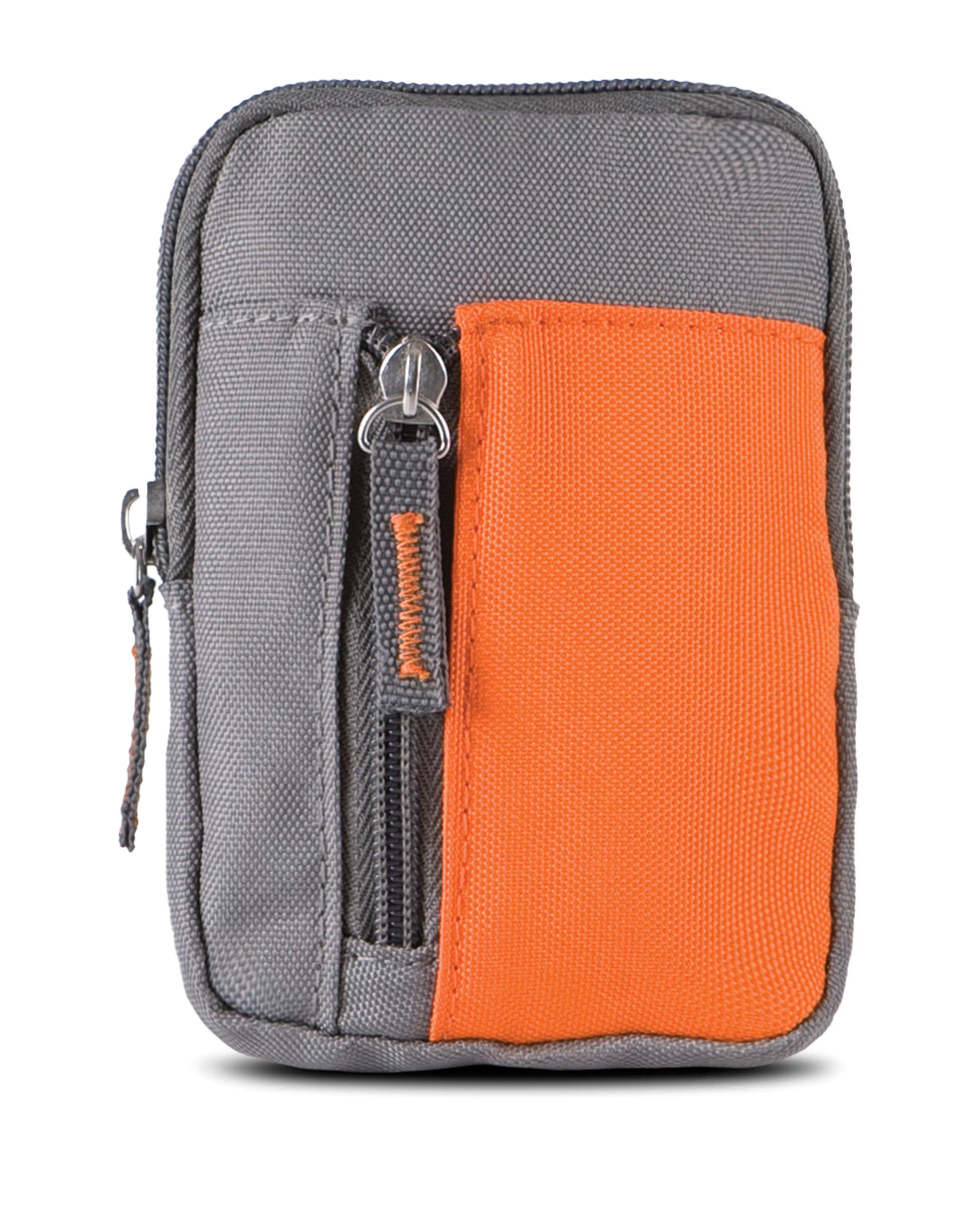 portemonnee ki0502 grijs/oranje