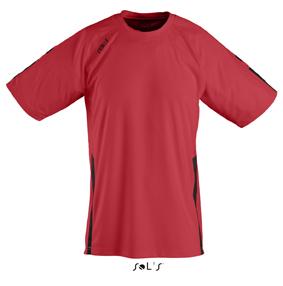 Sols Wembley Sportshirt Red - Black