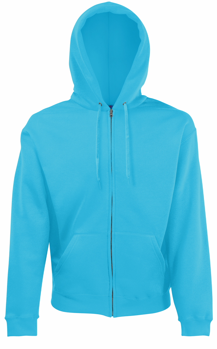 Fruit of the Loom Hoodie Jacket 620620 Azure Blue