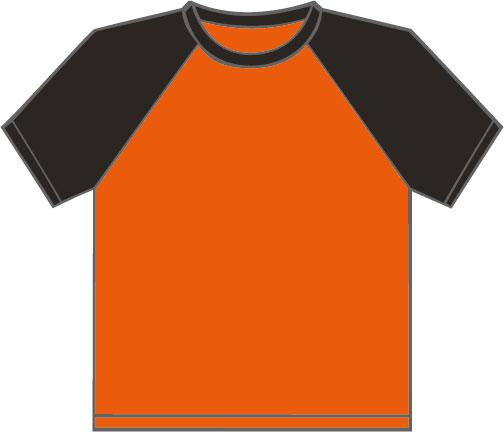 K330  Orange - Black