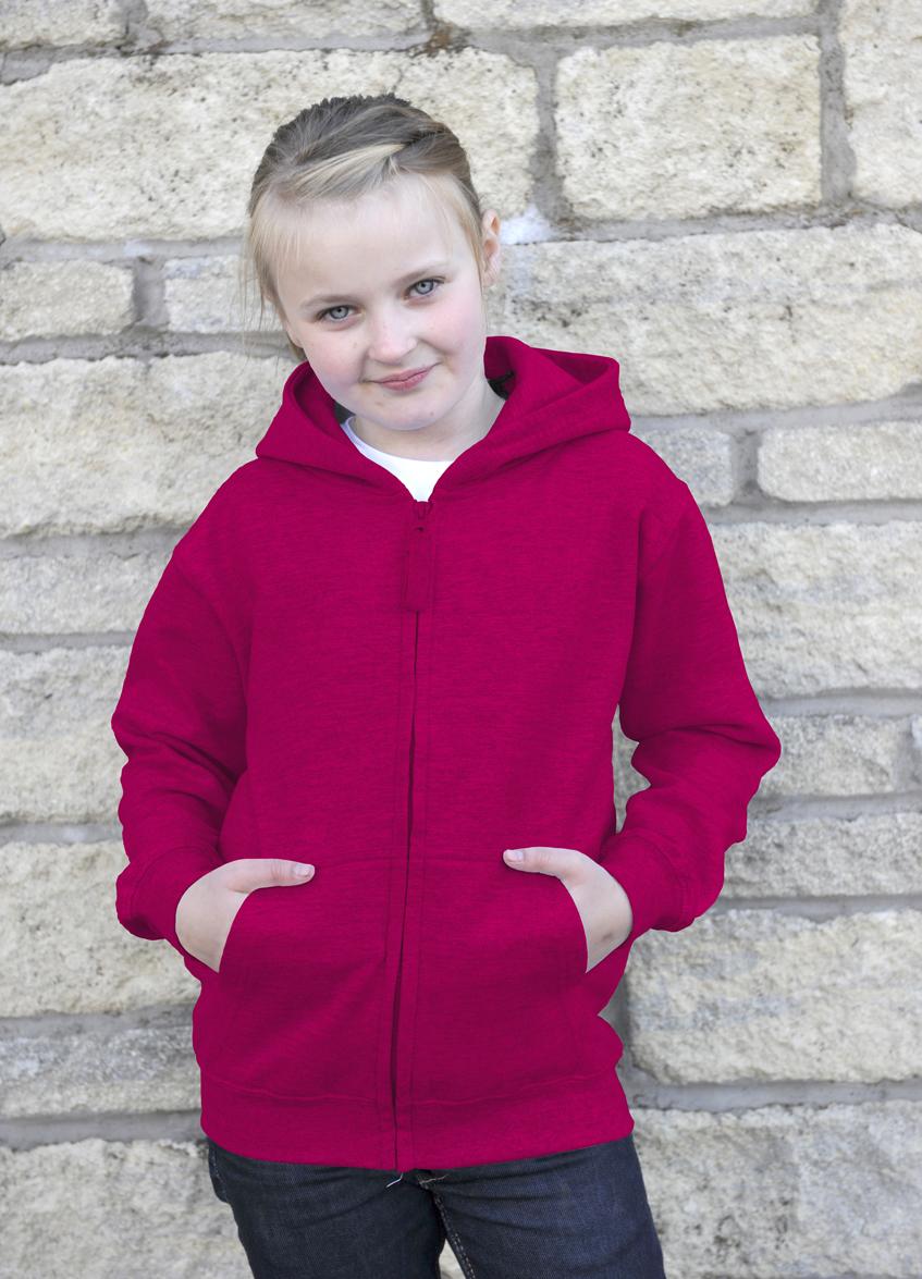 AWDis JH050J Kids Zoodie Hot Pink