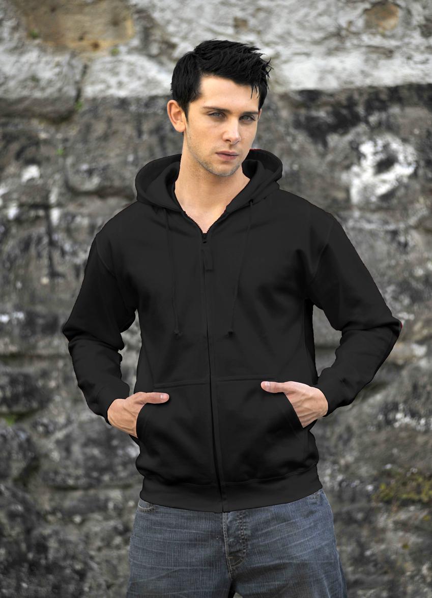 AWDis Zoodie JH050 hoodie Jet Black
