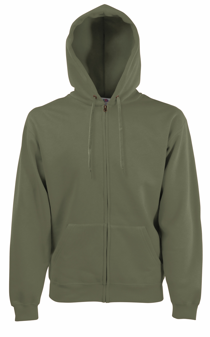 Fruit of the Loom Hooded Jacket 620620 Classic Olive