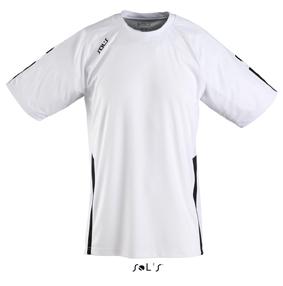 Sols Wembley Sportshirt White - Black