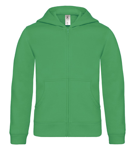 B-C Hooded Full Zip Kids Kelly Green