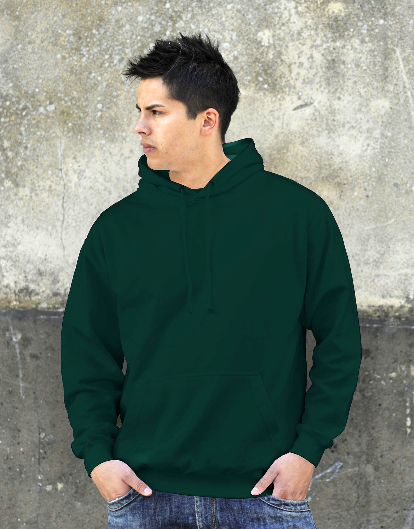 AWDis JH001 College hoodie Bottle Green