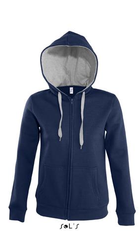 Sols Soul Women Contrast Zip Hooded Jackets