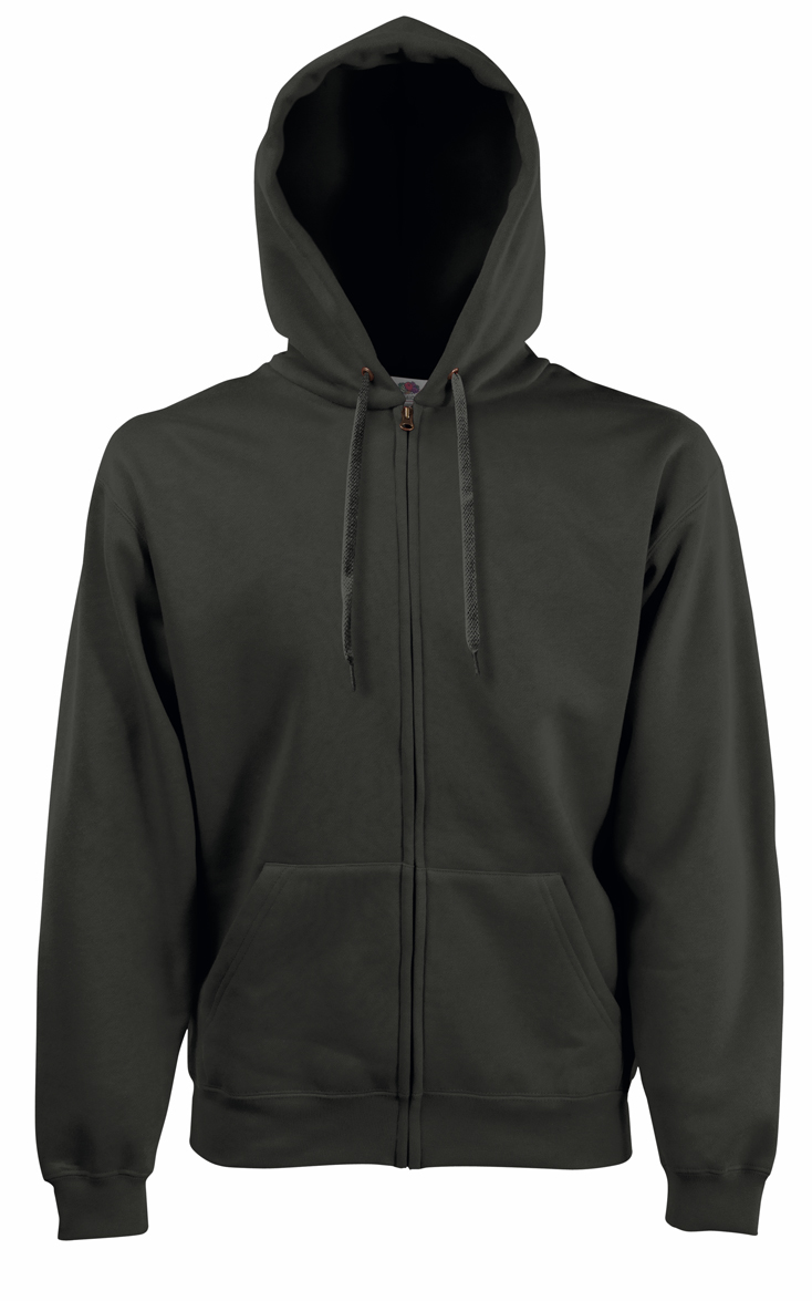 Fruit of the Loom Hooded Jacket 620620 Charcoal