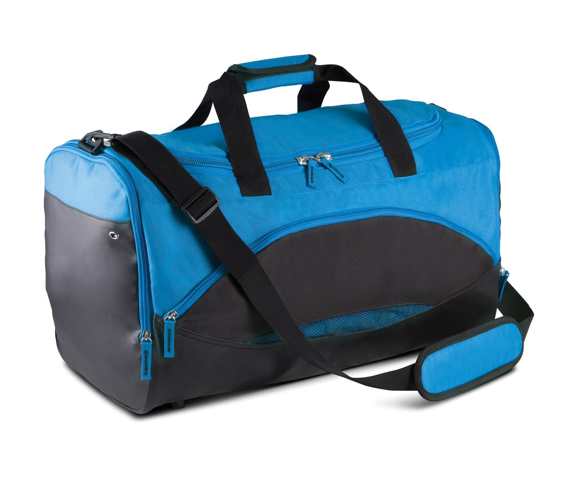 Sporttas ki0601 Aquablauw / Zwart