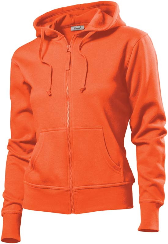 Hanes Spicy dames hoodie 6510 Orange