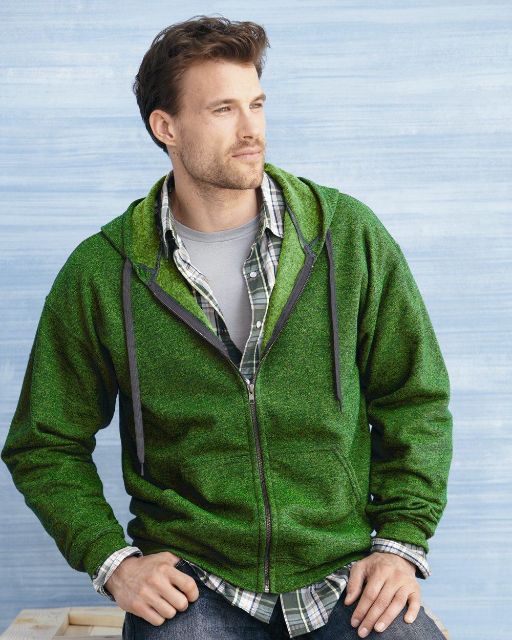 Gildan Vintage Classic Full Zip Hoodie Sweater met rits