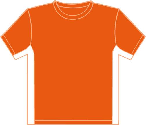 K340 Orange - White