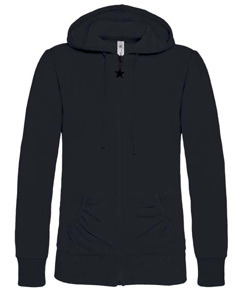 B-C Wonder Women Dames hoodie Black