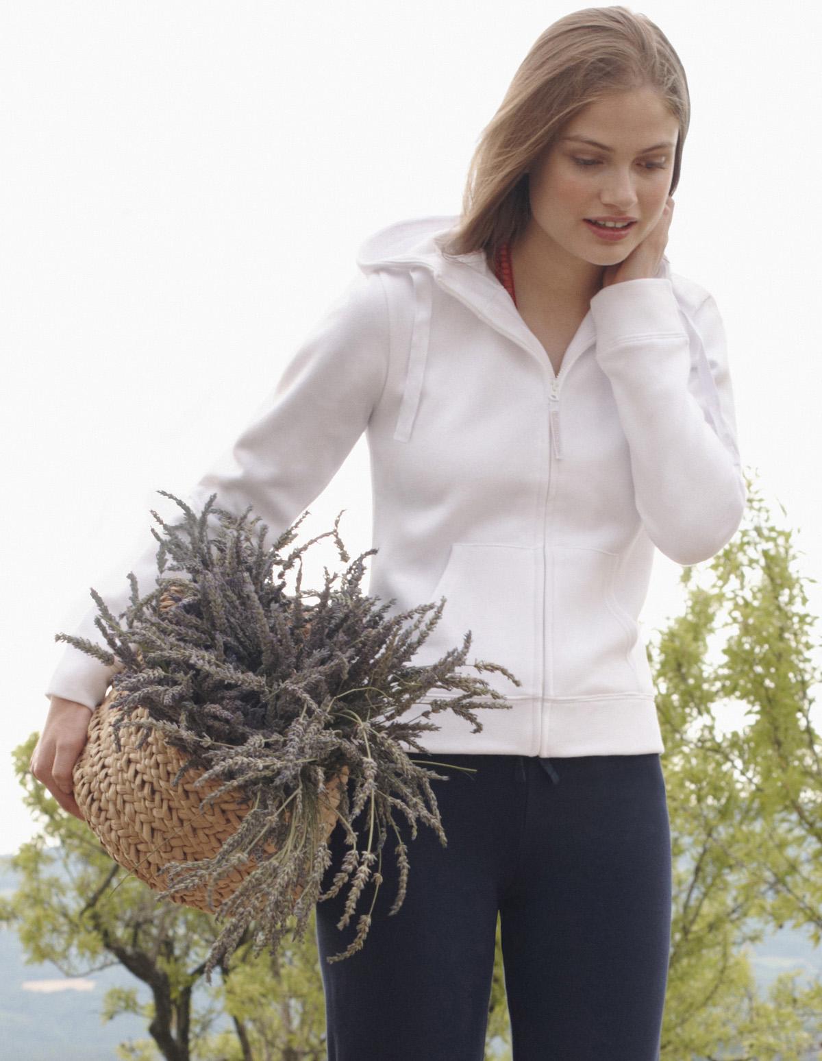 Fruit of the Loom Lady Fit Hooded Jacket sfeerfoto