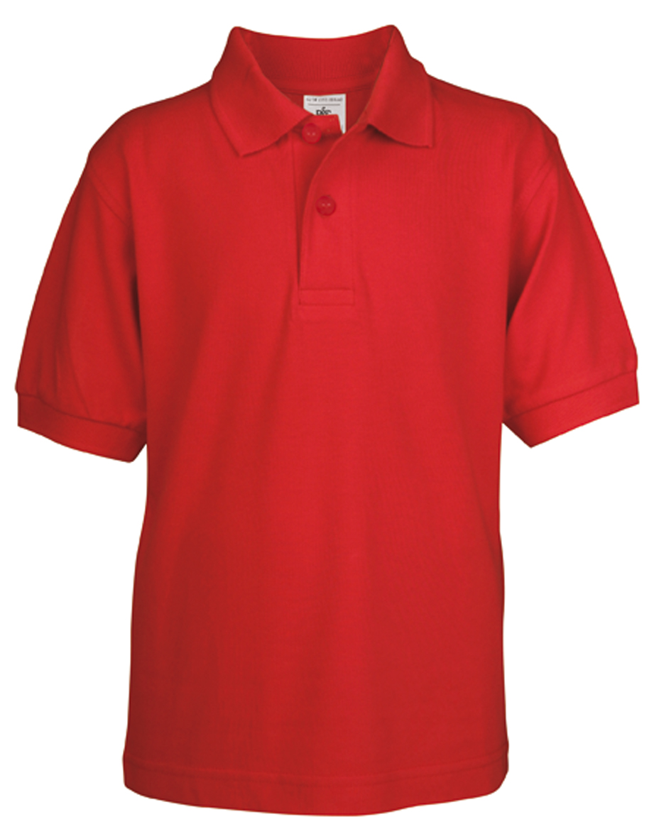 Kids Polo Safran Red