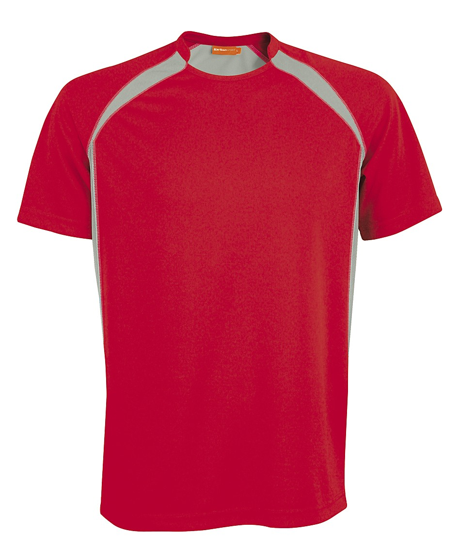 Kariban Sportshirt Breathing KS01 Red - Grey