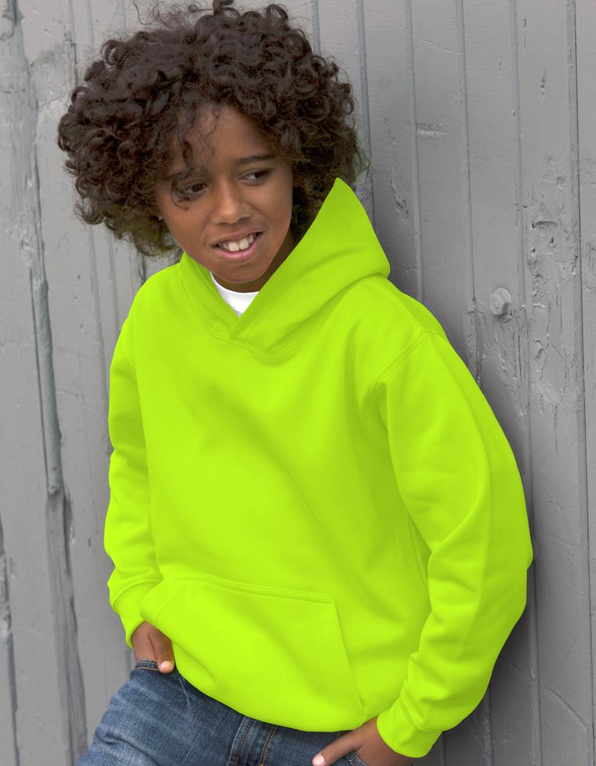 AWDis Kids Electric Hoodie JH04J Hoodie Kind Electric Green